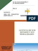 exposicion de licencias y subdiviciones