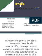 Exposicion Licencia de Construccion.