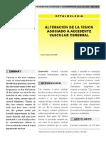 Alteración de la visión asociada a accidente vascular cerebral