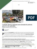 Centrales obreras anuncian nueva jornada de protesta para 21 de septiembe _ La FM