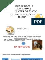 Presentación Legislacion del Trabajo Prof Reynoso
