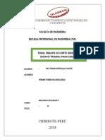 ENSAYOS DE CORTE DIRECTO Y TRIAXIAL
