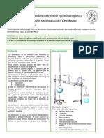 Metodología para destilación