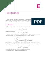 Appendix E - Fourier transforms