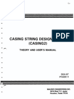 Casing String Design Model