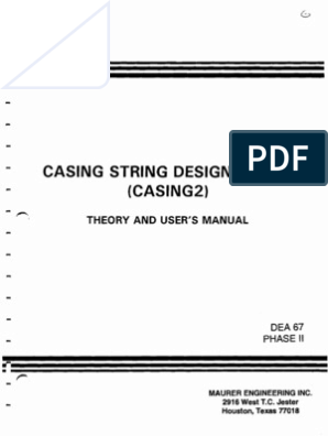 Casing String Design Model | Casing (Borehole) | Strength Of