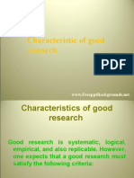 characteristic of good research