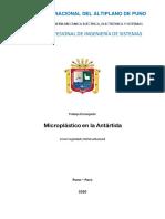 Microplástico en la Antártida