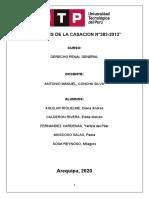 ANALISIS DE LA CASACION N°383-2012