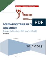 Catalogue Formation Tableau de bord Logistique 1 jour