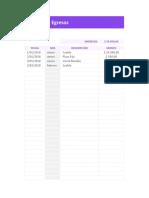 Planilla de Excel Para Control de Ingresos y Egresos