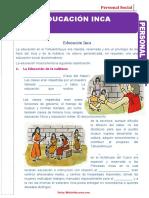 FICHAS EDUCACION INCA 5TO