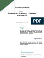 U4_Amortización, Gradientes y Fondo de Amortización