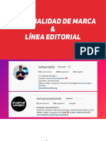 1.- PERSONALIDAD DE MARCA _ LÍNEA EDITORIAL