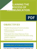 DAY 3 EXPLAINING THE PROCESS OF COMMUNICATION