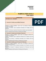 Rúbrica de Estimación de Parámetros de Una Poblaión