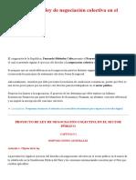 Proponen Nueva Ley de Negociación Colectiva en El Sector Público _ LP