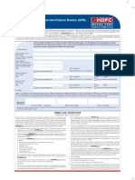 HDFC Mutual Fund PIN Generation Form