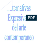 alternativas expresivas del arte contemporaneo1