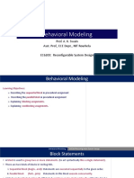11_Behavioral Modeling