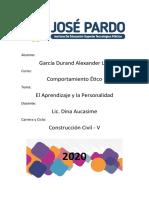 EL APRENDIZAJE Y LA PERSONALIDAD_GARCIA DURAND_CC_V