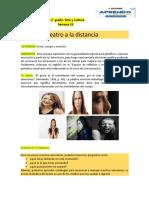 ARTE Y CULTURA 1ro y 2do SEMANA 23