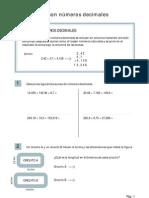 operaciones con decimales 7 santillana
