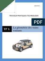 La géométrie des trains roulants