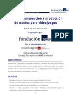 Composición y Producción de Música para Videojuegos (SGAE Madrid)