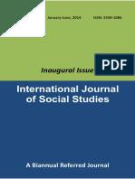 International Journal of Social Studies
