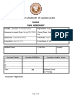English Business Assessment Spring -2020 copy