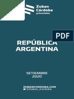 Zuban Córdoba - Informe Nacional Sept 2020
