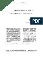 Merleau-Ponty y la psicología de la forma