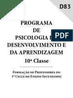 PSOCOLOGIA DO DESENVOLVIMENTO E DA APRENDIZAGEM 10º CLASSE