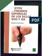 Textos literarios españoles de los siglos XVIII y XIX (2013), De Margarita Almela Boix