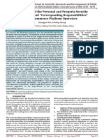 An Analysis of the Personal and Property Security Obligations and Corresponding Responsibilities of E Commerce Platform Operators