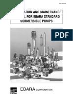INSTALLATION AND MAINTENANCE MANUAL FOR EBARA STANDARD SUBMERSIBLE PUMPS.pdf