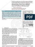 Design and Implementation of Low Power Adiabatic System for Power Recycling in Frequency Divider