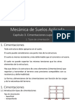 C31 Tipos de cimentacion
