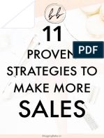 11 Proven Strategies to Make More Sales