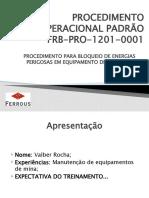 PROCEDIMENTO OPERACIONAL PADRÃO - FRB-PRO-1201-0001 (1)