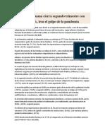 esteEconomía peruana cierra segundo trimestre con caída de 30