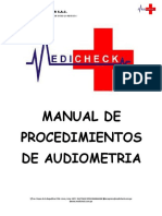 PROCEDIMIENTO DE AUDIOMETRIA