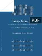 Van Tress 2004 - Poetic Memory. Allusion in the Poetry of Callimachus and the Met. of Ovid