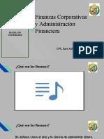 Sesión N° 01 - Finanzas y Administración Financiera