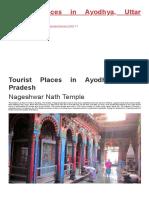 Tourist Places in Ayodhya, Uttar Pradesh