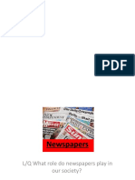 newspaper industry and context - lesson 1 and 2