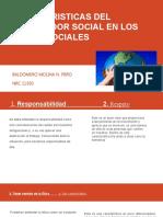 Caracteristicas del trabajador social en los  ámbito sociales