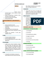 HANDOUT 5- HEALTH PROMOTION, HEALTH MAINTENANCE and HEALTH CONSIDERATIONS