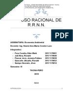 uso racional de RRNN